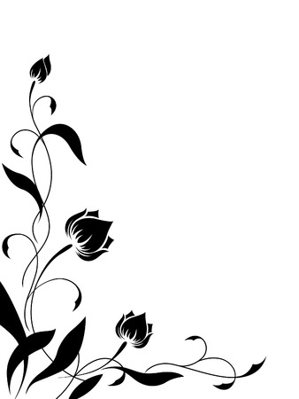 Angular flower pattern Illustration