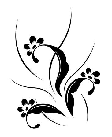Flower pattern, tattoo Stock Vector - 6974637