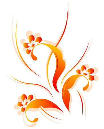 Vertical flower pattern Stock Vector - 6974639