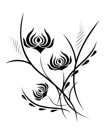 Flower vertical pattern Illustration