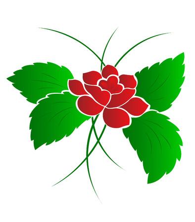 Pattern of a flower a rose Illustration