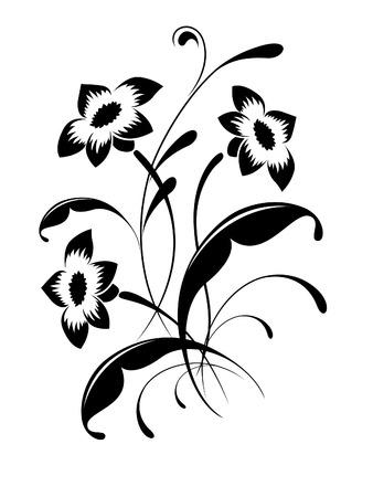 Elegant flower pattern, tattoo