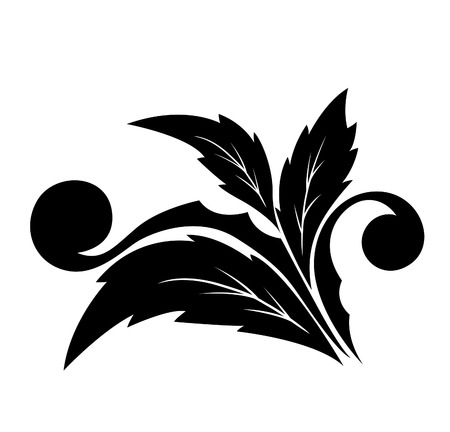 Angular decorative flower pattern with petals