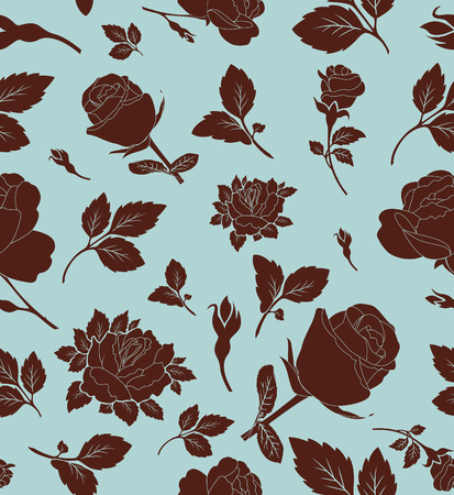 Floral seamless pattern with rose, wallpaper Stock Vector - 7926600