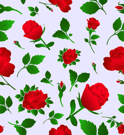 Elegant floral seamless pattern with rose, wallpaper Stock Vector - 8105399