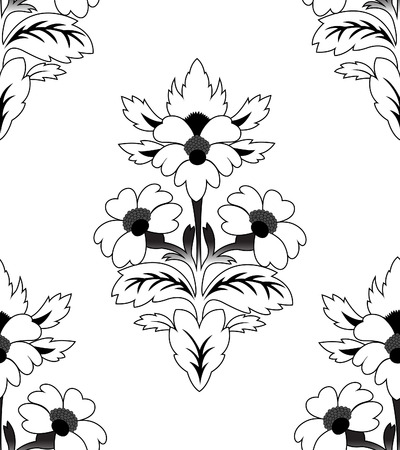 Seamless a repeating flower pattern Stock Vector - 8313225