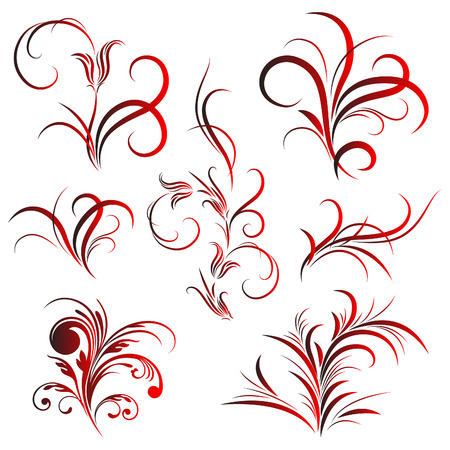 Set of flower pattern, tattoo Illustration