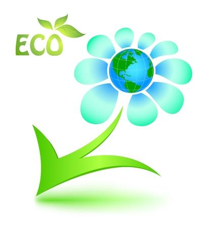 madre tierra: S�mbolo ecol�gico con la madre tierra Vectores