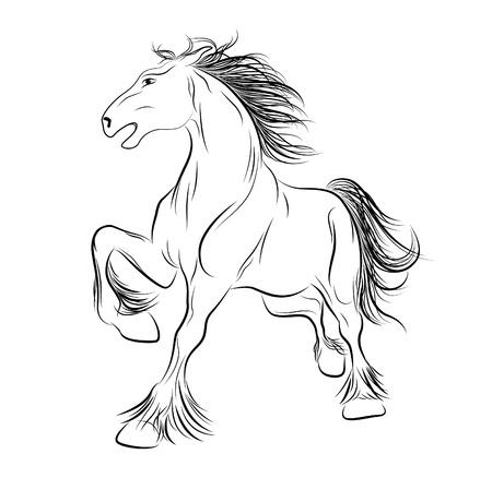 Vector image a horse, tattoo Illustration