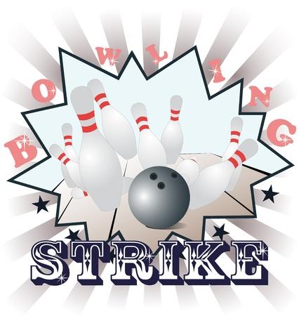 kegelen: Bowling illustratie Stock Illustratie