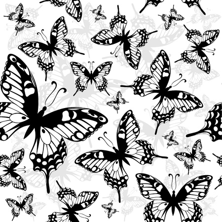 Seamless background with butterfly Stock Vector - 10476264