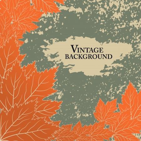 Autumn background in vintage style Illustration
