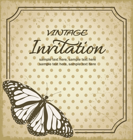 butterfly stationary: Vintage background for invitations