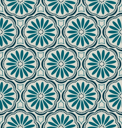 blue daisy: floral background seamless
