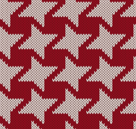 Knitted background with geometric figure seamless Vector