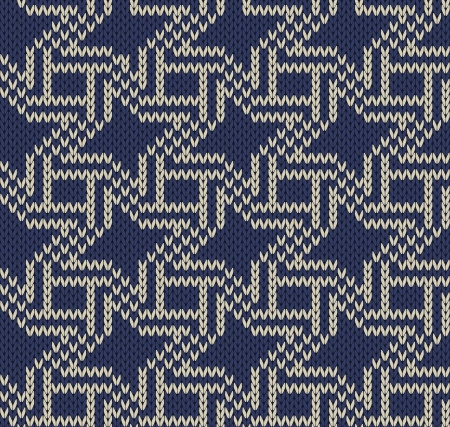 jacquard: Vector  knitted background Illustration