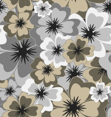 Vector seamless floral background Stock Vector - 19982416