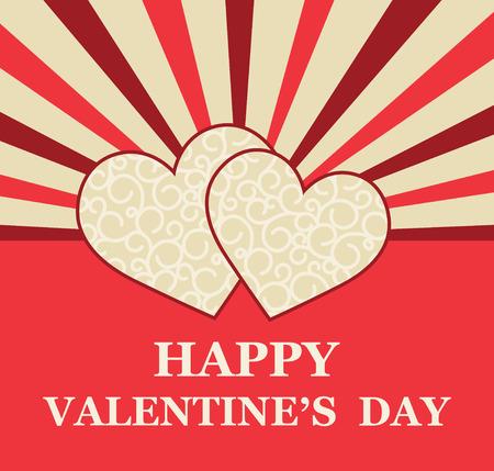 Valentines Day greeting card Illustration