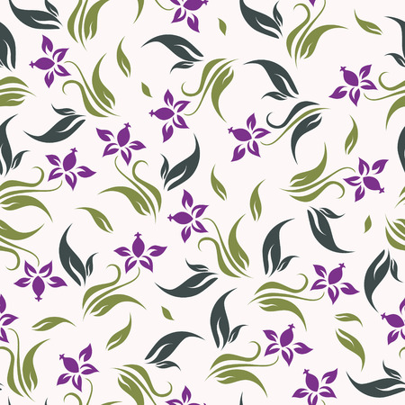 Vector floral background seamless Illustration