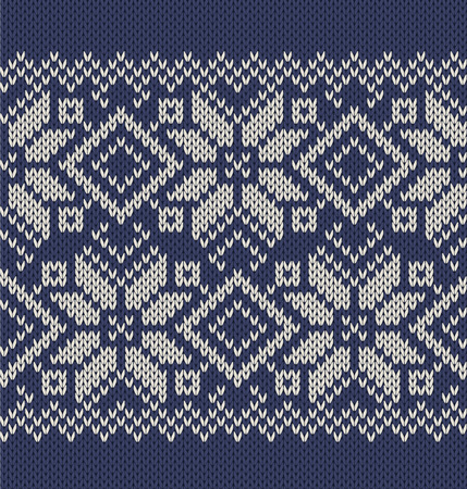 Vector seamless knitted background with the image of ornament