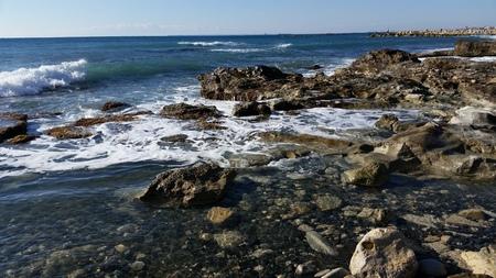 limassol: Beach in Limassol Stock Photo