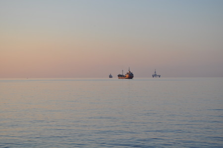 mediterranian: Ship at sea in Cyprus