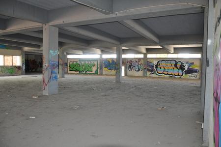 window graffiti: Graffiti art wall in Cyprus Editorial