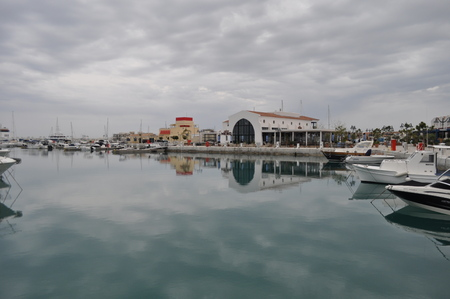waterfront property: The Limassol Marina in Cyprus Stock Photo