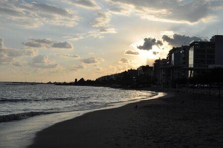 The beautiful Limassol Beach in Cyprus