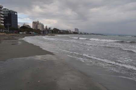 The beautiful Limassol Beach in Cyprus