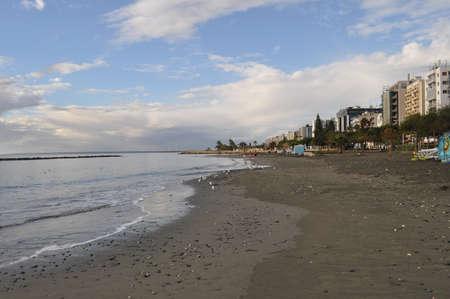 The beautiful Limassol Beach in Cyprus Banco de Imagens