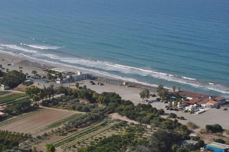 The beautiful Agios Ermogenis Beach Limassol in Cyprus