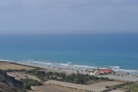 The beautiful Agios Ermogenis Beach Limassol in Cyprus