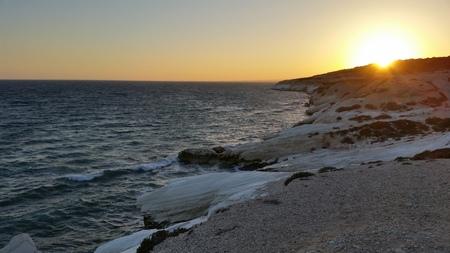 The beautiful Agios Georgios Alamanou Beach Limassol in Cyprus
