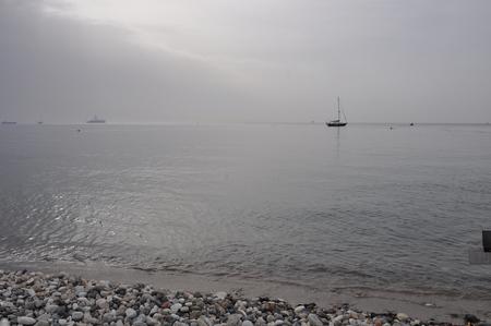 The beautiful boat in open sea