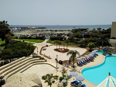 The beautiful St Raphael Resort Hotel building Limassol in Cyprus