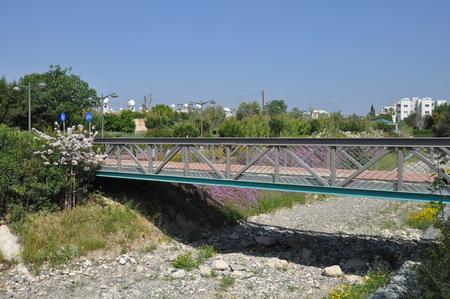 The beautiful Linear Park Along the Garyllis River Limassol (Cyprus)