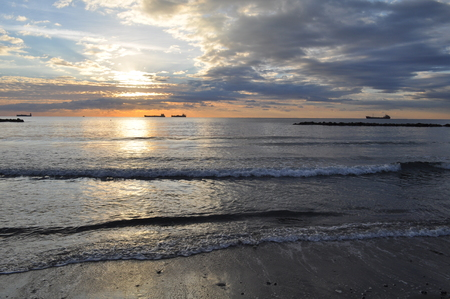 The beautiful sunset natural sea landscape