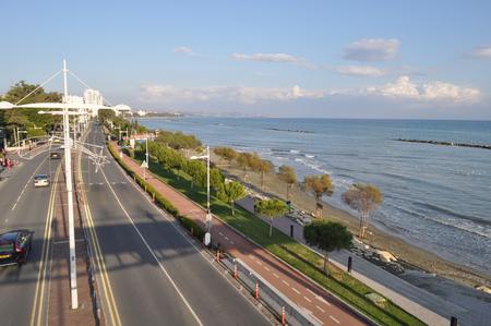 The beautiful landscape street of limassol
