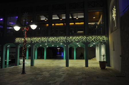 The beautiful Christmas Night Limassol Marina in Cyprus