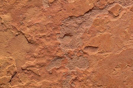 自然なグランジ大まかなスレート石背景テクスチャ オレンジ色と茶色