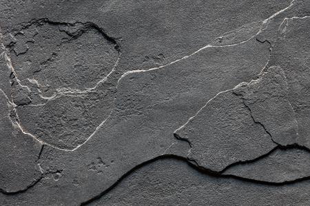 自然層大まかなスレート石の背景のテクスチャ色の濃い灰色 写真素材