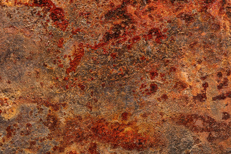 Heavily rusted grunge metal sheet texture for backgrounds