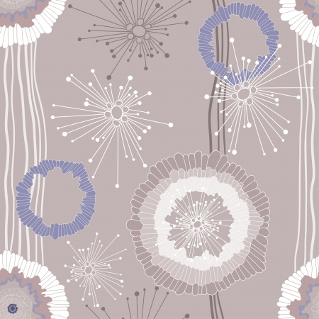 Ornate floral seamless texture, endless pattern with flowers   Vector