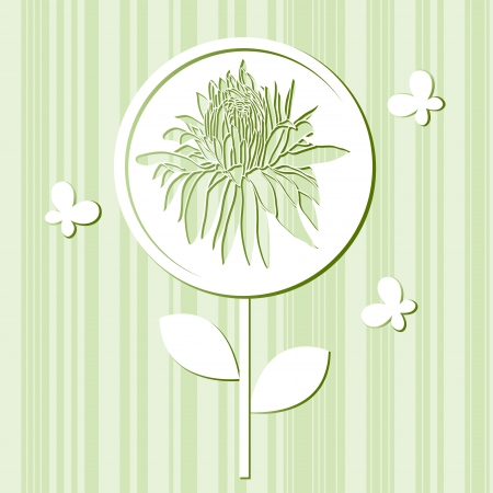 The vector illustration of flower Stock Vector - 19125448