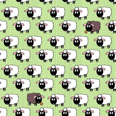 羊とのシームレスなパターン