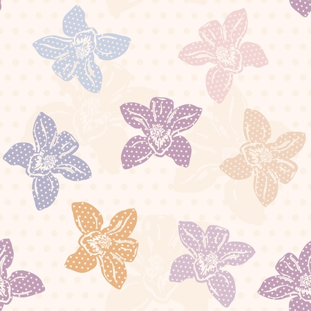 Orchid Pattern, polka dot design  Vector