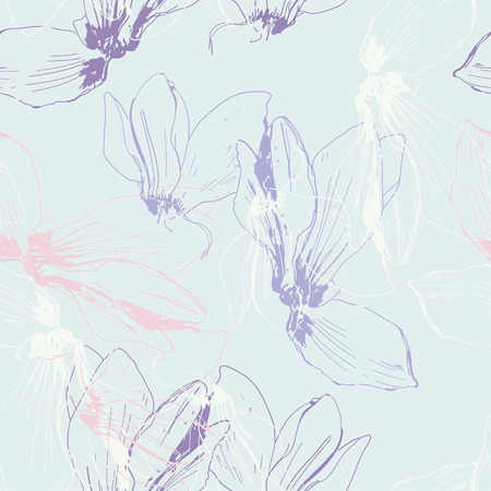 cyclamen: Endless floral background with cyclamen  Illustration