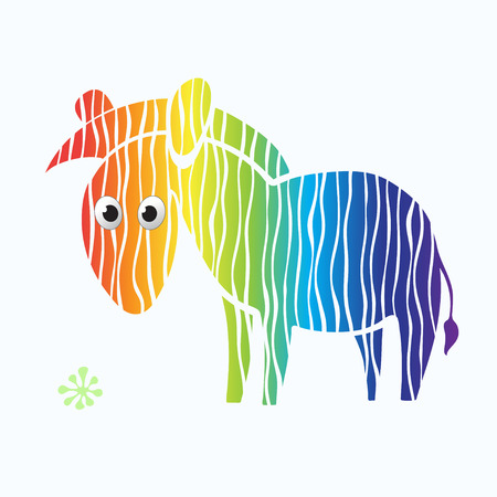 illustration   Zebra-rainbow Vector