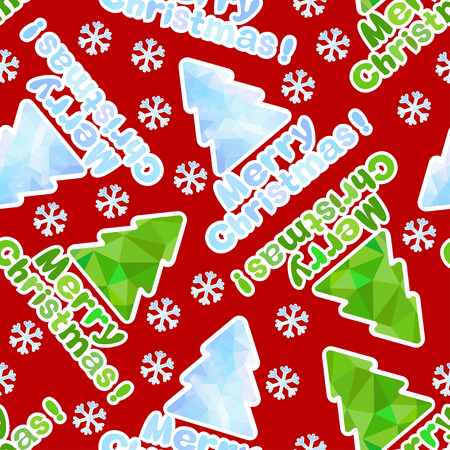 Merry Christmas, seamless festive background  Can be used as an invitation, greeting card  Vector